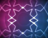 Symmetrical pattern blue and pink Stock Illustration