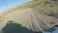 Stock Video Footage of 4x4 sports vehicle sand dune trail riding HD 049