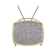 1950 kannettava televisio staattisen näyttö ja antennit Kuvituskuvat