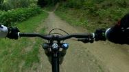 Downhill Mountain Bike Handlebars View 6 Stock Footage
