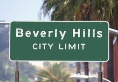Beverly hills city limits sign Stock Photos