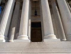 Supreme court door Stock Photos