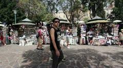 Street Market in Venice Italy Stock Footage