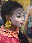 Brazilian carnival fantasy Stock Photos
