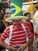 brazilian carnival fantasy - stock photo