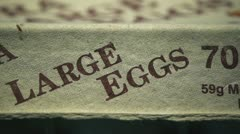 Egg carton Stock Footage