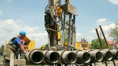 Natural Gas Drilling Well Stock Footage