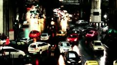 Night traffic in Bangkok - Thailand Stock Footage