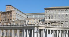 The pope's living quarters - stock photo