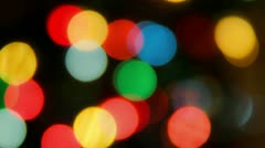Xmas Bokeh Stock Footage