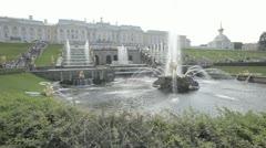 Fountain in Petergof Stock Footage