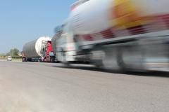 heavy transport truck - stock photo