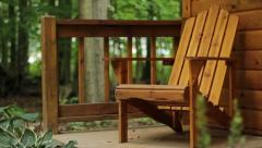 Adirondack Chair - Cabin Stock Footage