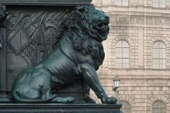 Stock Photo of lion on the monument of maximilian joseph