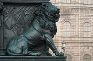Stock Photo of lion on the monument of maximilian joseph