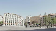Street Madrid Stock Footage