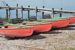 Stock Photo of canoes on the shore