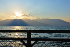 Stock Photo of lake sunset landscape