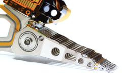 Parts, hard disk read heads. Stock Photos