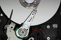 Hard disk read head - stock photo