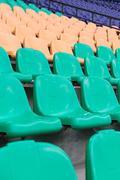 chairs in stadium - stock photo