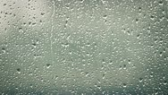 Drops on the window glass Stock Footage