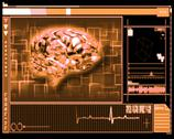 Stock Illustration of Orange brain interface technology