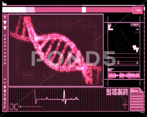 Stock Illustration of Pink DNA Helix technology