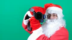 Santa's  photographing - stock footage