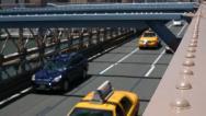 Traffic on Brooklyn Bridge Stock Footage