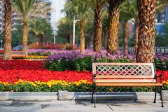 garden chair - stock photo