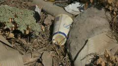 Illegal toxic waste dump Stock Footage