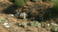 Toxic waste, oil dump Stock Footage