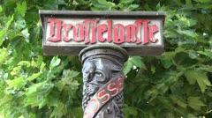 Germany - Hesse - Ruedesheim - Drosselgasse Stock Footage