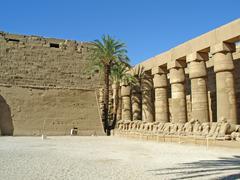 Karnak - ancient temple of egypt, luxor, africa Stock Photos