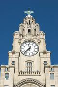 Liver Building Clock 2 Stock Photos