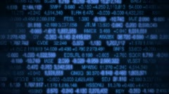 Stock Market Board (Loopable) Stock Footage