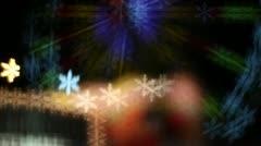 Snowflake Bokeh 2 - stock footage
