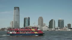 City Sightseeing New York Tour Boat 1 Stock Footage