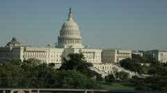 15 sec Capitol w flags at half staff Stock Footage