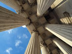 Supreme court columns Stock Photos