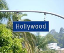 Hollywood blvd sign Stock Photos