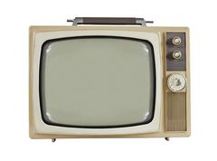 Vintage 1960's portable television Stock Photos