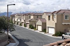 Desert suburbia Stock Photos