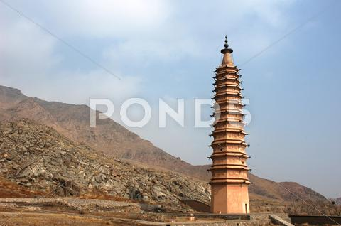 Stock photo of chinese ancient pagoda