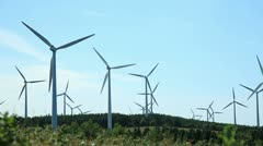 Wind Turbine Field - stock footage