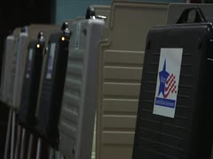 Voting Booths - Chicago Board of Election Commissioners Stock Footage