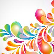 Abstract background with bright teardrop-shaped arches. Stock Illustration