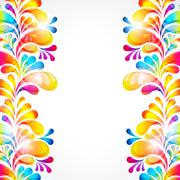 Abstract bright background with teardrop-shaped arches. Stock Illustration
