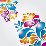 abstract background composition with arch drops. - stock illustration